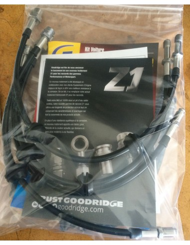 Durites aviation Goodridge noires pour MINI JCW 211