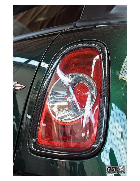 Contours de phare arriére carboneRSI C6 pour mini R561120