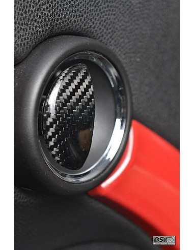 Caches poignée de porte en carbone RSI C6 pour MINI R50 R53