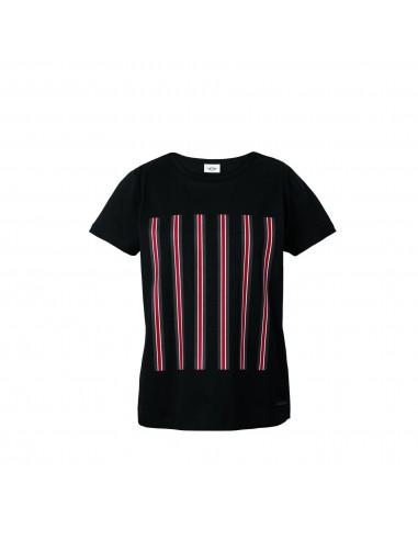 T-shirt femme Jcw Rayures Noir