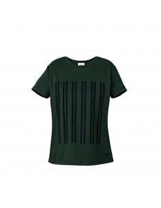 T-shirt femme Jcw Rayures Vert