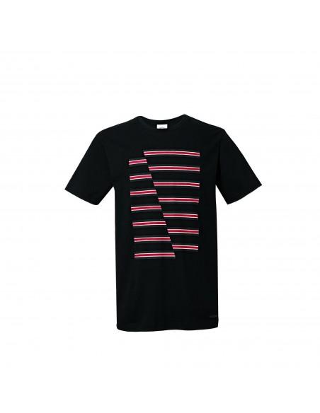 T-shirt homme Jcw Rayures Noir