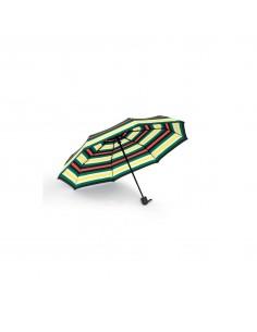 Parapluie pliant mini à rayures