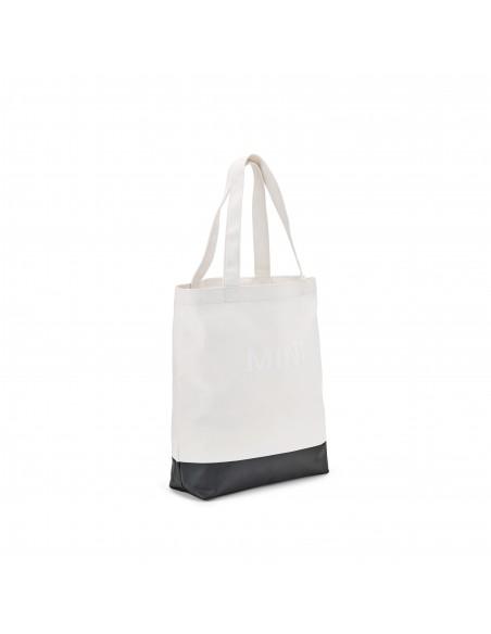 Sac Shopper Blanc Block Mini