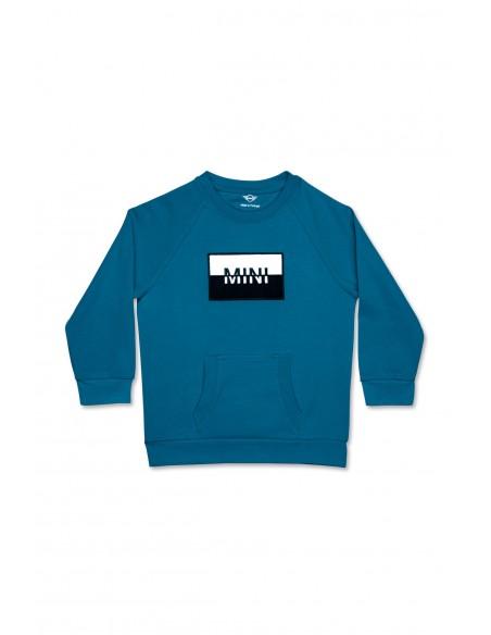 Sweat-shirt enfants Bleu Patch Mini
