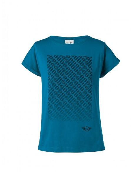 T-shirt Femme Bleu Signet Mini