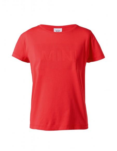 T-shirt Femme Rouge Monogramme Mini