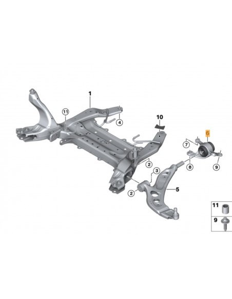 Support de triangle Bmw Pour Mini F56