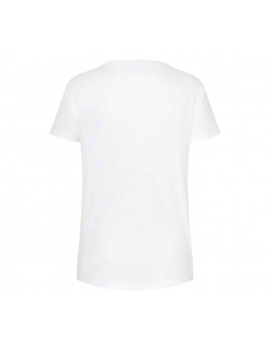 T-shirt femme blanc/jaune Logo 3D...