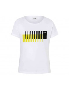 T-shirt femme blanc/jaune...