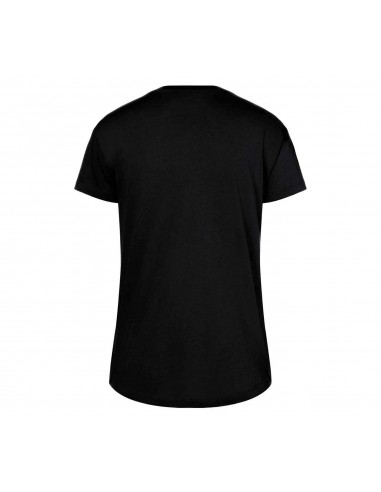 T-shirt femme noir/jaune Logo 3D stripes