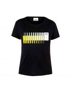 T-shirt femme noir/jaune...