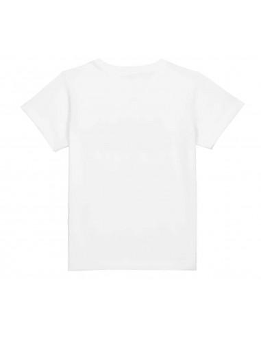 T-shirt enfant bleu/blanc Wordmark...