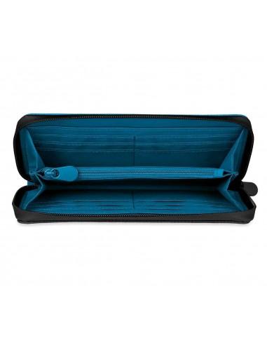 Portefeuille Mini bleu/blanc/noir