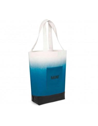 Sac Shopper Mini bleu/blanc/noir