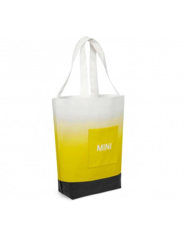 Sac Shopper Mini jaune/blanc/gris